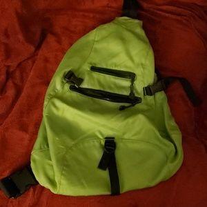 Lime Green and Black GAP Messenger Crossbody bag